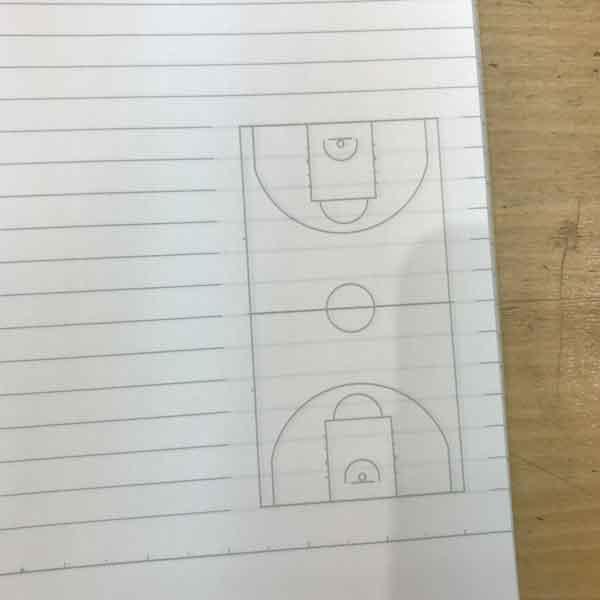 みんなの部活ノート:バスケットボール(コート部分拡大)