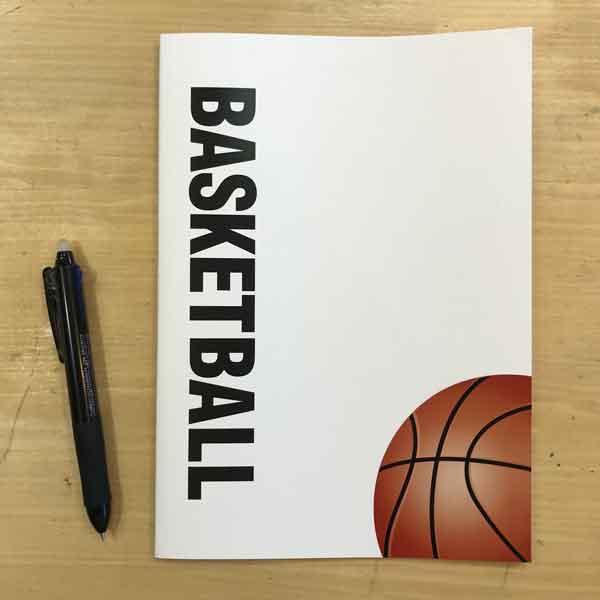 スポーツノート:バスケットボールミシン綴じ
