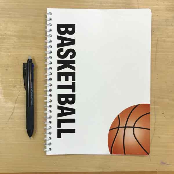 スポーツノート:バスケットボール Wリング(表紙)