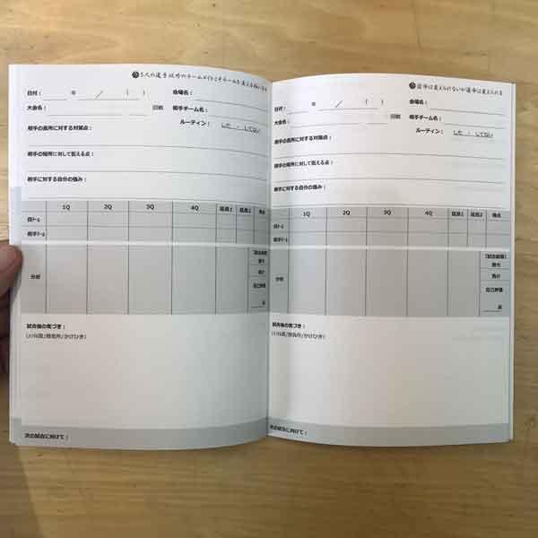バスケットボールノート勝ちノート(試合記録ページ)