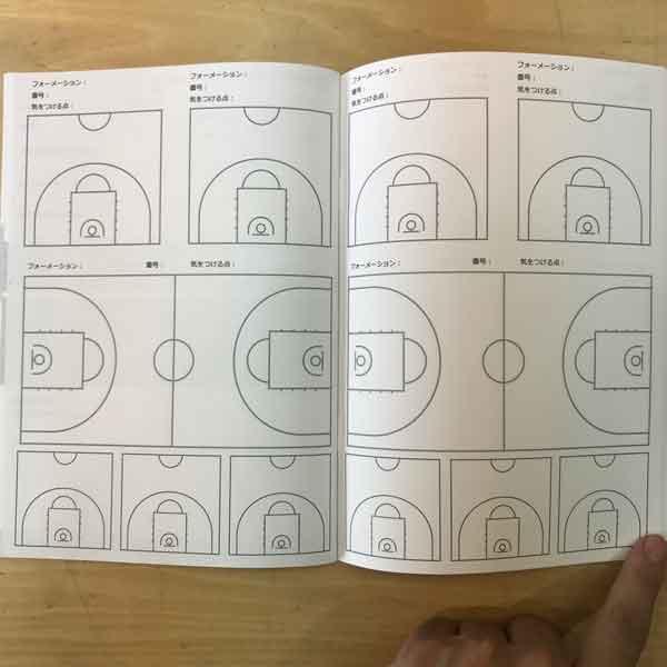 バスケットボールノート勝ちノート(フォーメーション)